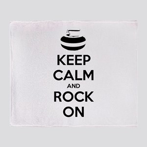 Keep Calm and Rock On - Curling Throw Blanket