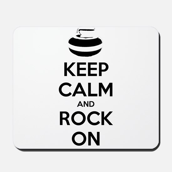 Keep Calm and Rock On - Curling Mousepad