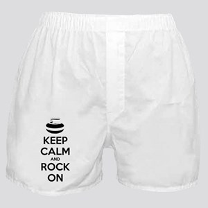 Keep Calm and Rock On - Curling Boxer Shorts