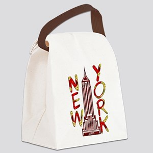 Empire State Building 2f Canvas Lunch Bag