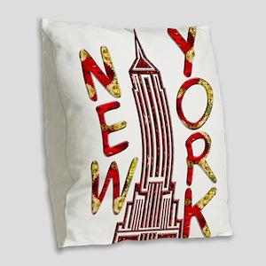 Empire State Building 2f Burlap Throw Pillow