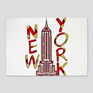 Empire State Building 2f 5'x7'Area Rug