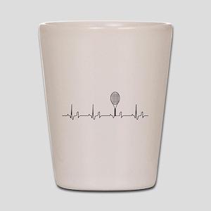 Tennis Heartbeat Shot Glass