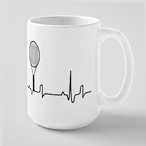 Tennis Heartbeat 15 oz Ceramic Large Mug
