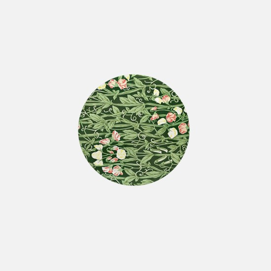 Sweetpea Floral Pattern Mini Button