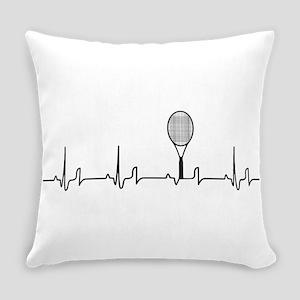 Tennis Heartbeat Everyday Pillow