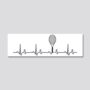Tennis Heartbeat Car Magnet 10 x 3