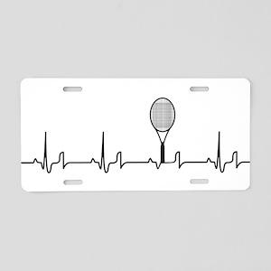 Tennis Heartbeat Aluminum License Plate