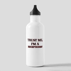 Trust Me, I'm a Receptionist Water Bottle