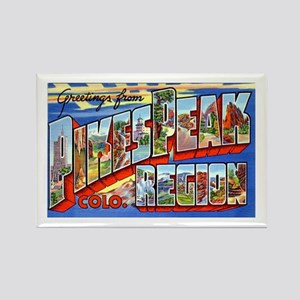 Pikes Peak Colorado Greetings Rectangle Magnet