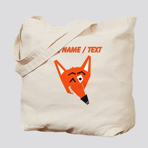Custom Winking Fox Tote Bag