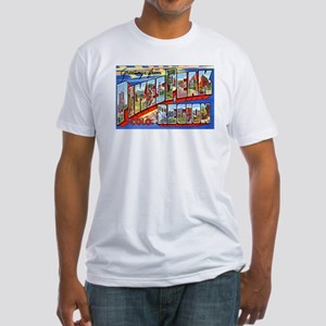 Pikes Peak Colorado Greetings (Front) Fitted T-Shi