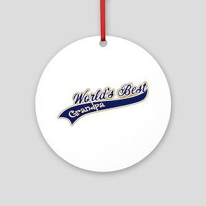 Worlds Best Grandpa Ornament (Round)