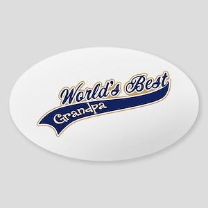 Worlds Best Grandpa Sticker (Oval)