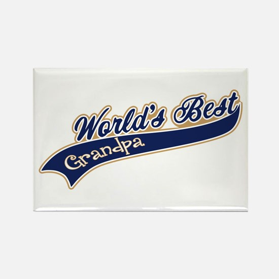 Worlds Best Grandpa Rectangle Magnet (10 pack)