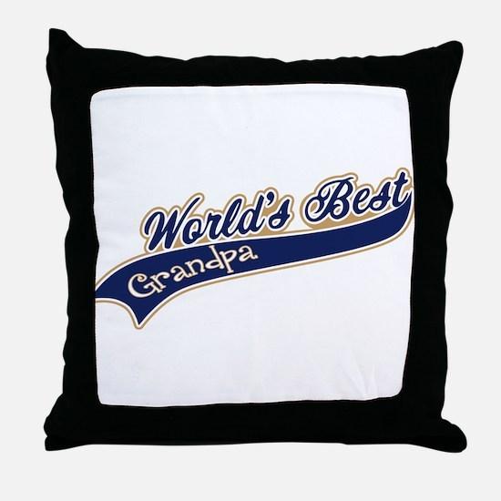 Worlds Best Grandpa Throw Pillow