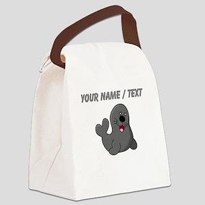 Custom Baby Seal Canvas Lunch Bag