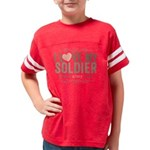 I Love my Soldier Youth Football Shirt
