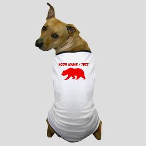 Custom Red California Bear Dog T-Shirt