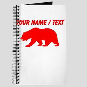 Custom Red California Bear Journal