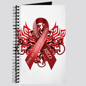 I Wear Red for my Great Grandma Journal
