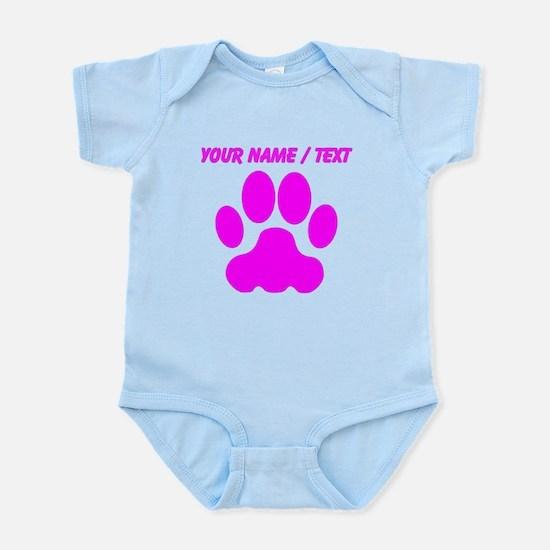 Custom Pink Big Cat Paw Print Body Suit