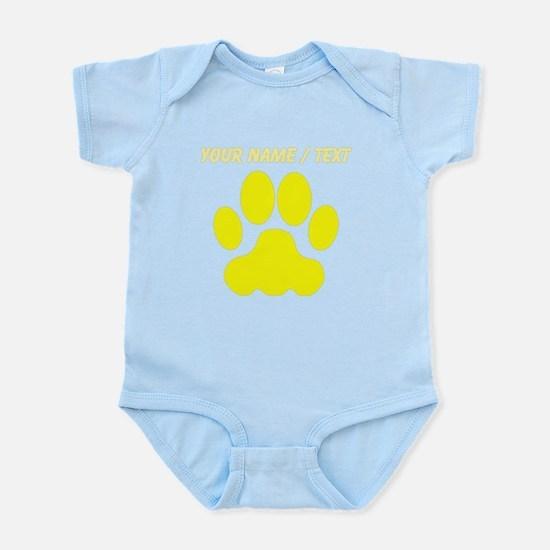 Custom Yellow Big Cat Paw Print Body Suit