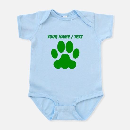 Custom Green Big Cat Paw Print Body Suit