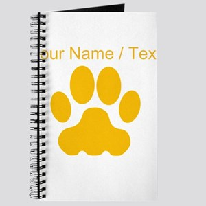Custom Orange Big Cat Paw Print Journal