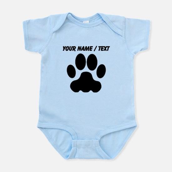 Custom Black Big Cat Paw Print Body Suit