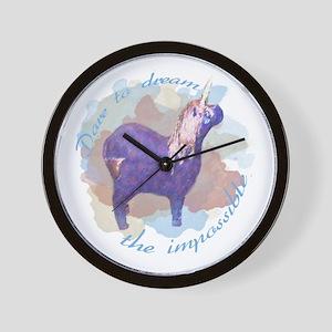 Dare to Dream The Impossibe Unicorn Wall Clock
