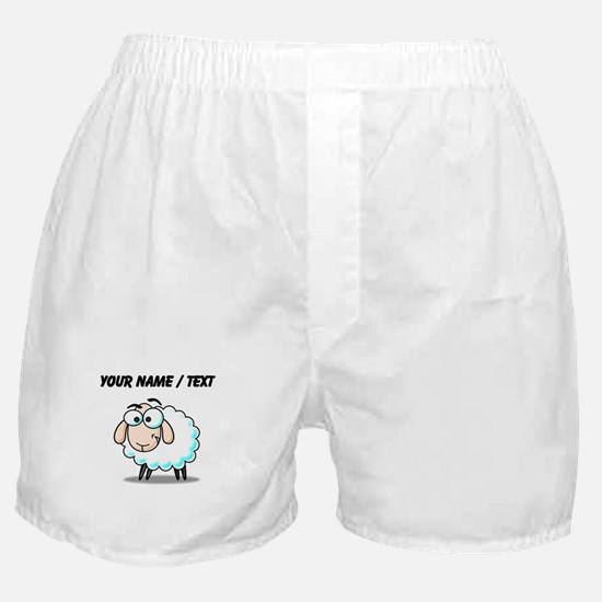 Custom Cartoon Sheep Boxer Shorts