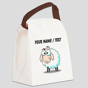 Custom Cartoon Sheep Canvas Lunch Bag
