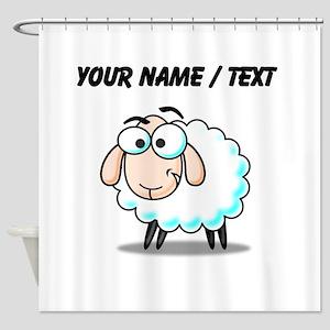 Custom Cartoon Sheep Shower Curtain