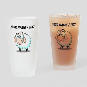 Custom Cartoon Sheep Drinking Glass