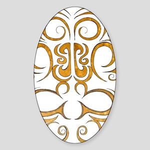 Pacific island inspired tribal desi Sticker (Oval)
