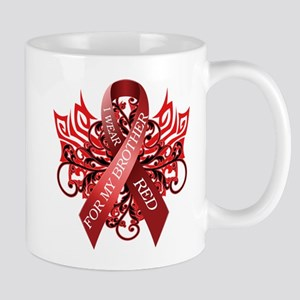 I Wear Red for my Brother Mugs