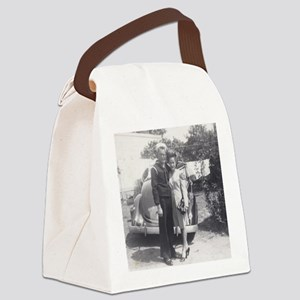 Off to War Canvas Lunch Bag