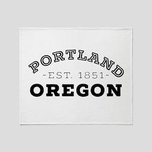 Portland Oregon Throw Blanket