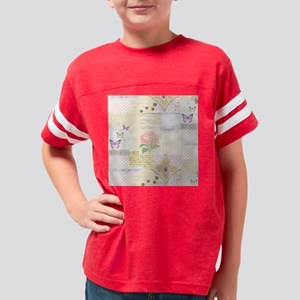 Girly pastel vintage collage Youth Football Shirt