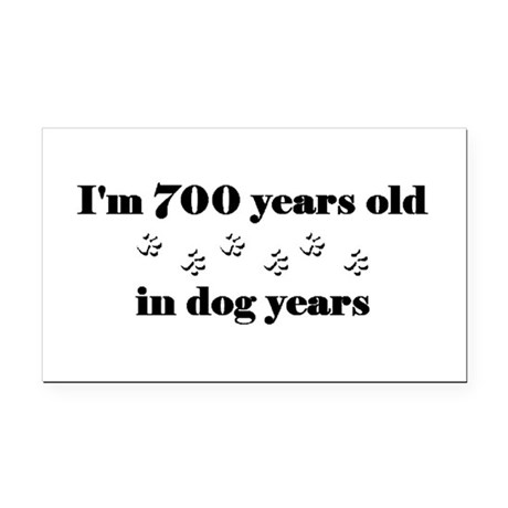 100 dog years 3-2 Rectangle Car Magnet