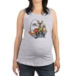 tour de moose Maternity Tank Top
