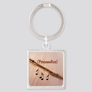 Flute Sounds/Personalize Square Keychain