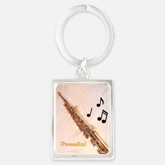 Flute Sounds/personalize Portrait Keychains