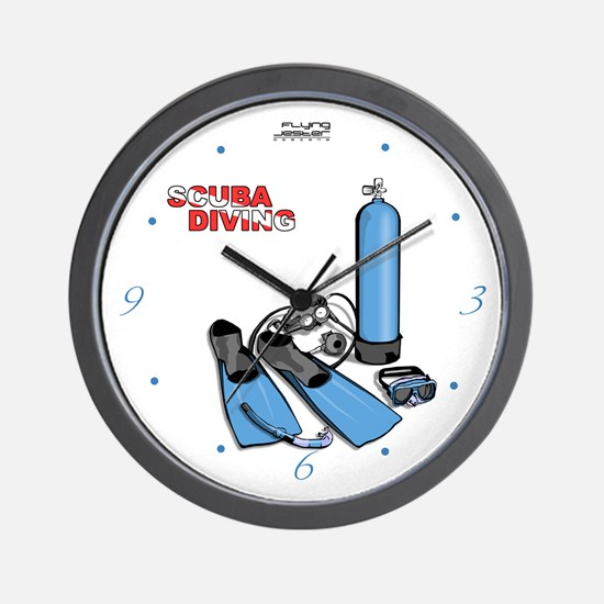 Scuba Diving Equiptment Wall Clock