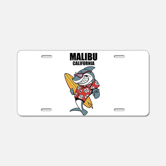 Malibu, California Aluminum License Plate
