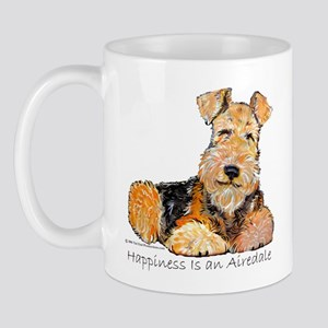 Airedale Happiness Mug