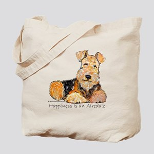 Airedale Happiness Tote Bag