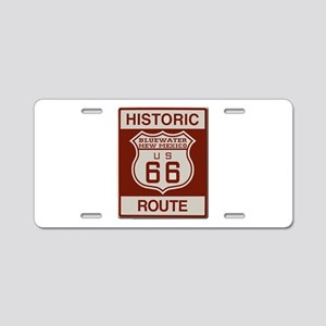 Bluewater New Mexico Route 66 Aluminum License Pla