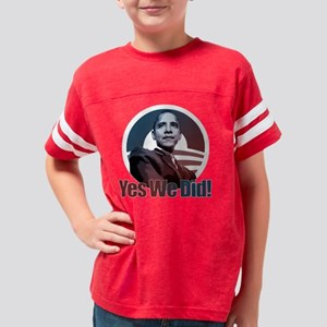 Yes We Did! Obama Youth Football Shirt